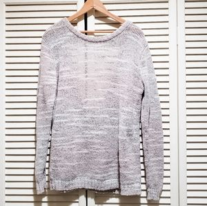 Rubbish Open Back Semi Sheer Sweater